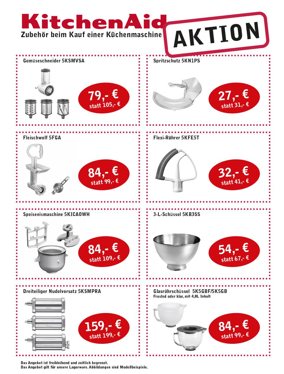 Zubehör Küchenmaschine